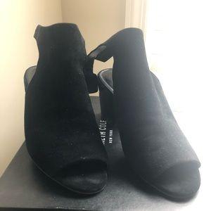 Ankle-step peep-toe booties